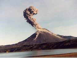 Камчатский вулкан выбросил пепел с газом на высоту 4 км