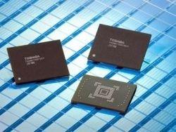 Toshiba показала встроенный чип памяти большого объема