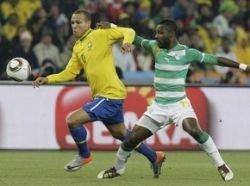 Бразилия побеждает Кот д\'Ивуар