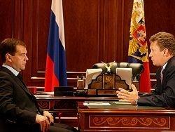 Встреча Медведева с Миллером по поставкам газа