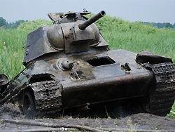 В реке Миус нашли танк Т-34
