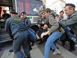 Задержаны участники акции в защиту Ходорковского