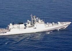 В Калининграде спустили на воду фрегат для ВМС Индии