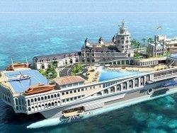Самую дорогую яхту построят в виде плавающего города
