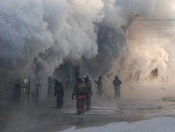 В Красноярске возник пожар в здании театра Пушкина