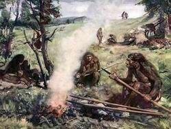 Отсутствие огня и сообразительность древних людей