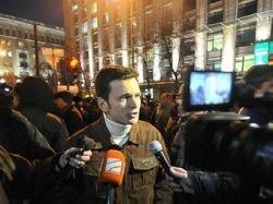 Илью Яшина отпустили из отделения милиции