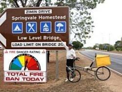 Российский пенсионер проехал Австралию на велосипеде