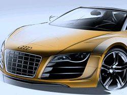 Скетчи новой R8 Spyder GT от Audi