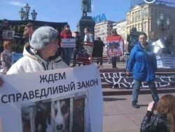 В Москве прошла акция за закон и против догхантеров