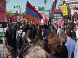 Калифорния встретила Обаму акциями протеста