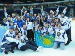 Сборная Казахстана по хоккею завоевала золото на ЧМ в Киеве