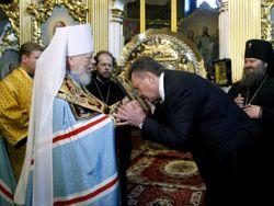 Янукович присвоил митрополиту Владимиру Героя Украины