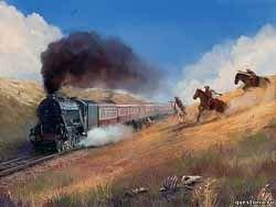 """Во Франции ограбили поезд в стиле """"Дикого Запада"""""""