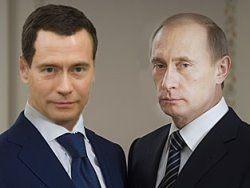 Медведев и Путин на старте предвыборной гонки-2012