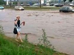Ливень в Казани: город затопило за час
