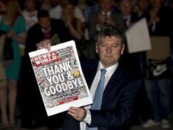 Газета News of the World попрощалась с читателями