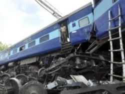 В Индии произошла крупная железнодорожная авария