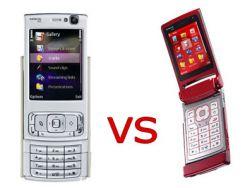 Сравнение топ-телефонов Nokia N76 на Nokia N95