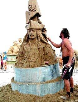 Россиянин выиграл конкурс фигур из песка