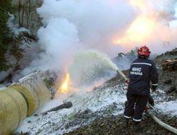 Во Львовской области горит желтый фосфор