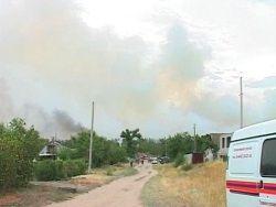 Угрожающий поселку в Волгоградской области пожар потушен