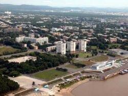 В Комсомольске-на-Амуре сгорели буксир и баржа