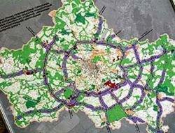 На подмосковной кольцевой автодороге построят 18 городов