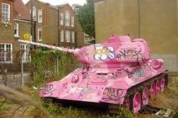 Гламурный розовый танк (фото)