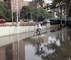 Ураган в Нью-Йорке: повреждены сотни машин, затоплены улицы