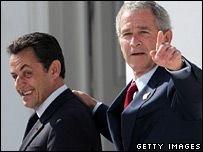 Буш и Саркози встречаются в Кеннебанкпорте