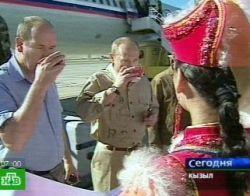 Владимир Путин и князь Монако Альбер II прибыли в Тыву