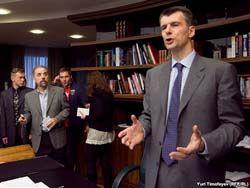 Михаил Прохоров считает лидером себя