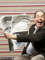 Реклама в газетах растет быстрее, чем на ТВ