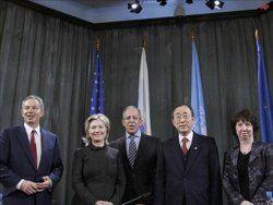 Международный Квартет настраивает инструменты