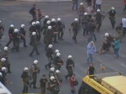 Протестующих в Греции разогнали слезоточивым газом