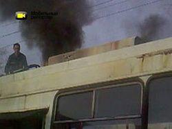 Пожар в иркутском троллейбусе: видео очевидца