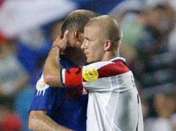Зидан отказался играть против Бекхэма