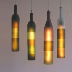 Оригинальные светильники или вторая жизнь винной бутылки