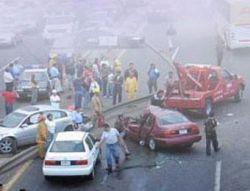 Из-за смога крупная авария произошла на Каширском шоссе (фото)