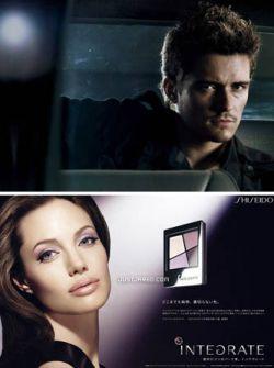 Орландо и Анджелина рекламируют Shiseido (фото)