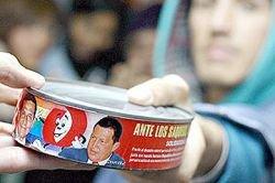"""Президент Венесуэлы Уго Чавес стал \""""консервированным тунцом\"""""""