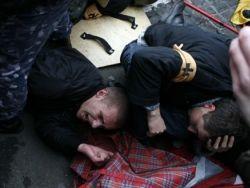 Рабочие устроили массовую драку в Петербурге