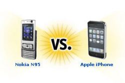 Apple iPhone против Nokia N95 (видео)