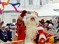 Дед Мороз готовится к восхождению на Эльбрус