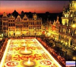Цветочные ковры в Брюсселе, Бельгия