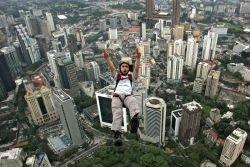 BASE Jumping в Куала Лумпур