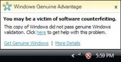 Сбой на серверах Microsoft сделал всех пользователей Windows пиратами