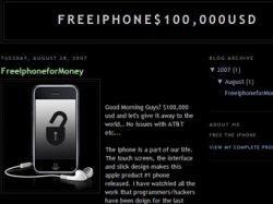 Блоггер предложил 100 тысяч долларов за обнародование метода взлома iPhone