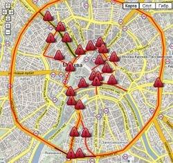 Схема ограничения движения транспорта в дни празднования 860-летия Москвы